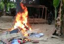 Polrestabes Medan Bakar Gubuk Narkoba di Polonia